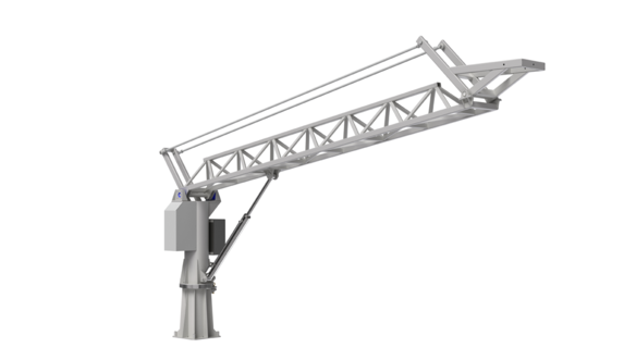 Swing arm 7m (with hoses and cables)