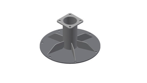 IS UP, base flange round Ø 580mm for Z160, Z200; ev. C150 (with OPTS-00003)""