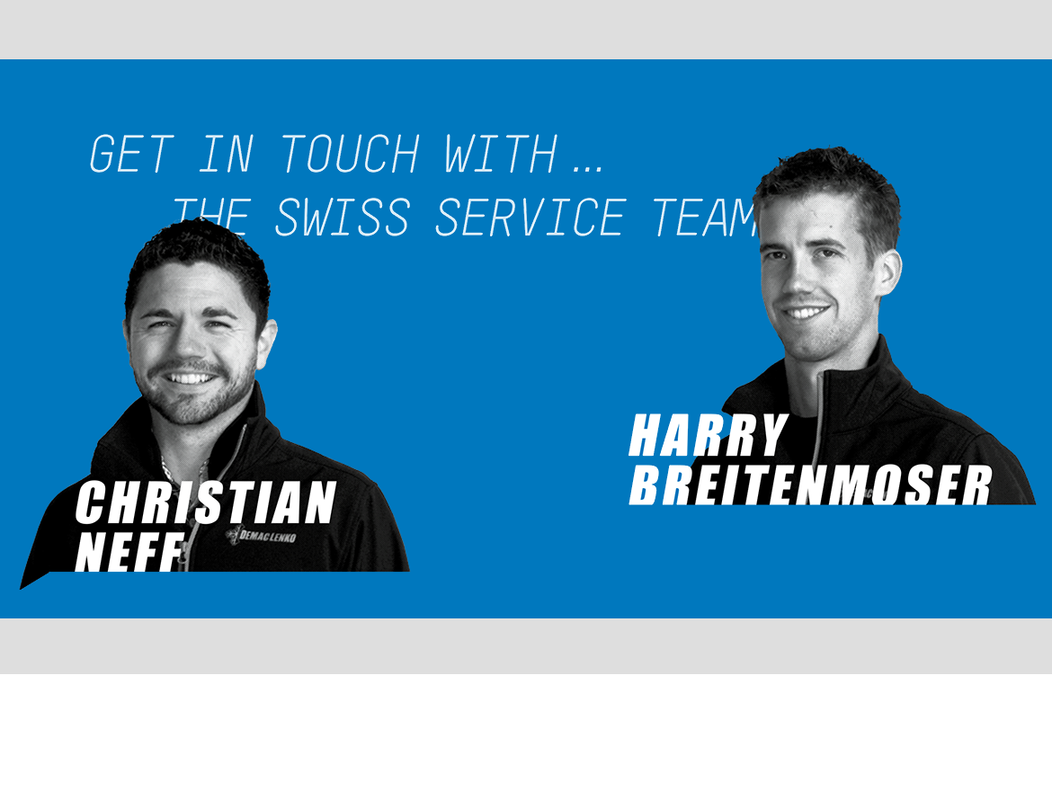 Get in touch with...the Swiss service team