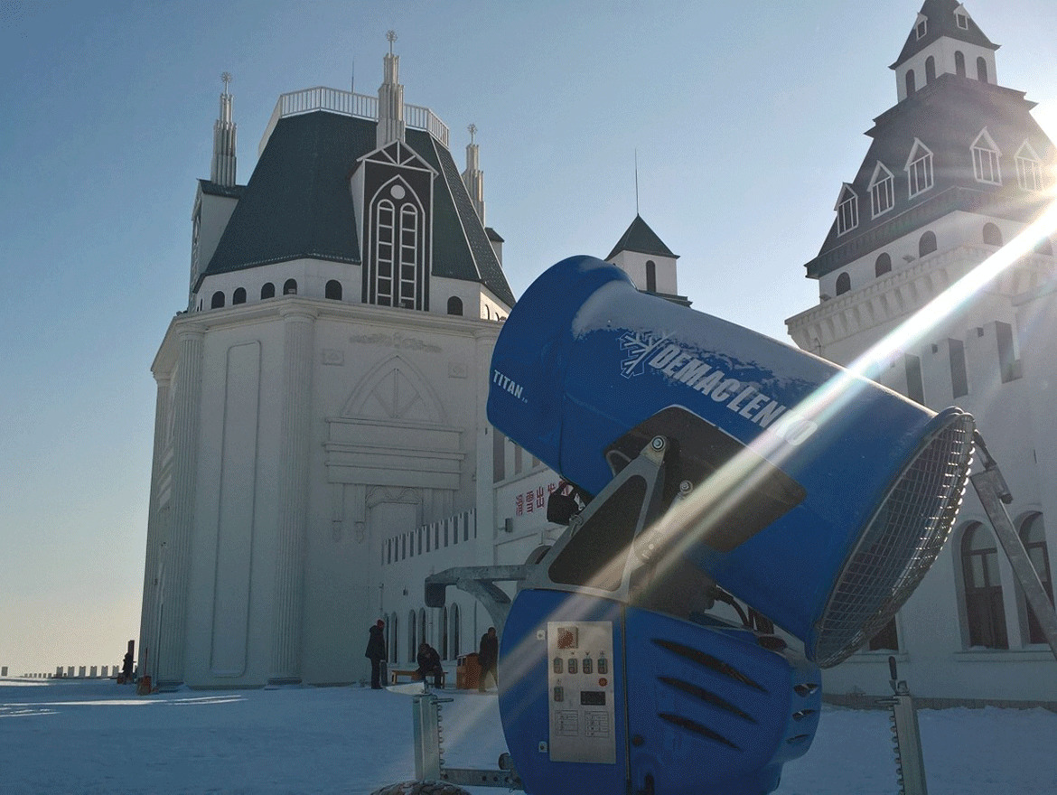 Demaclenko beim Harbin Ice & Snow Festival in China