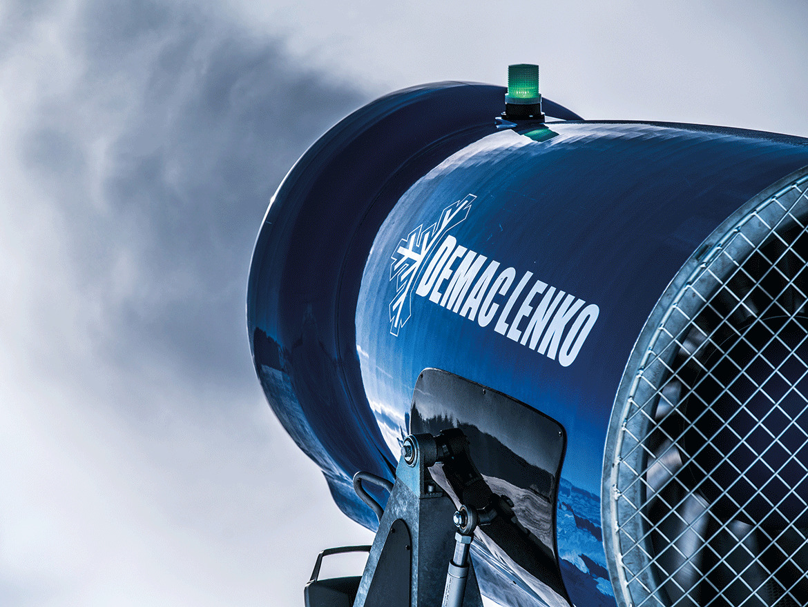 Powerful snowmaking system and optimum organization for the Worldcup Race at Plan de Corones
