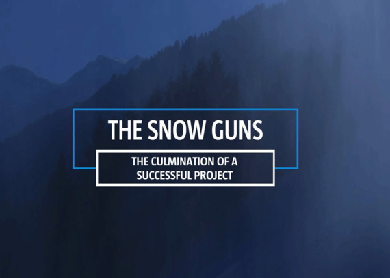 Welcome to our world - Snow guns
